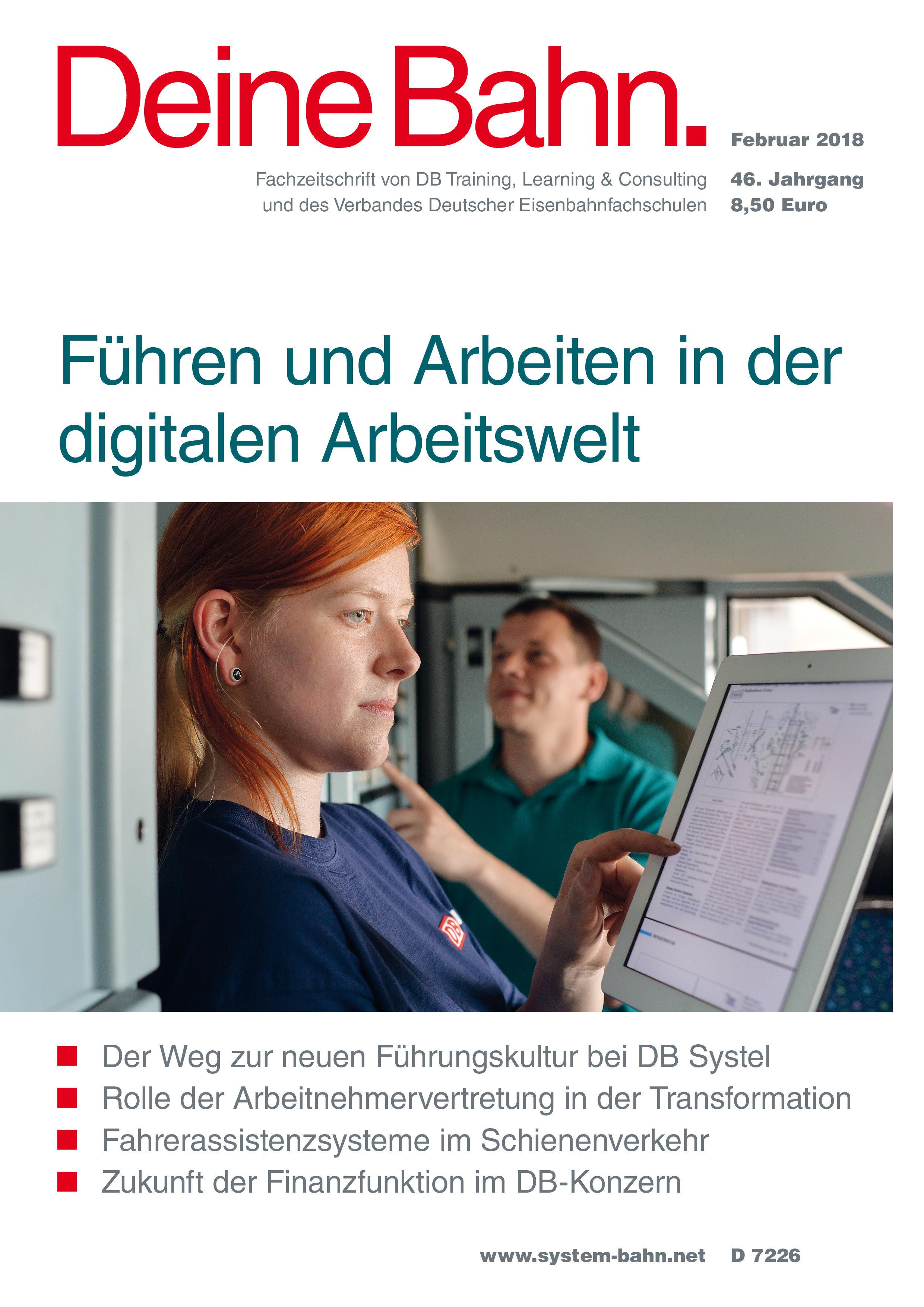Cover Fachzeitschrift - Deine Bahn - Februar 2018