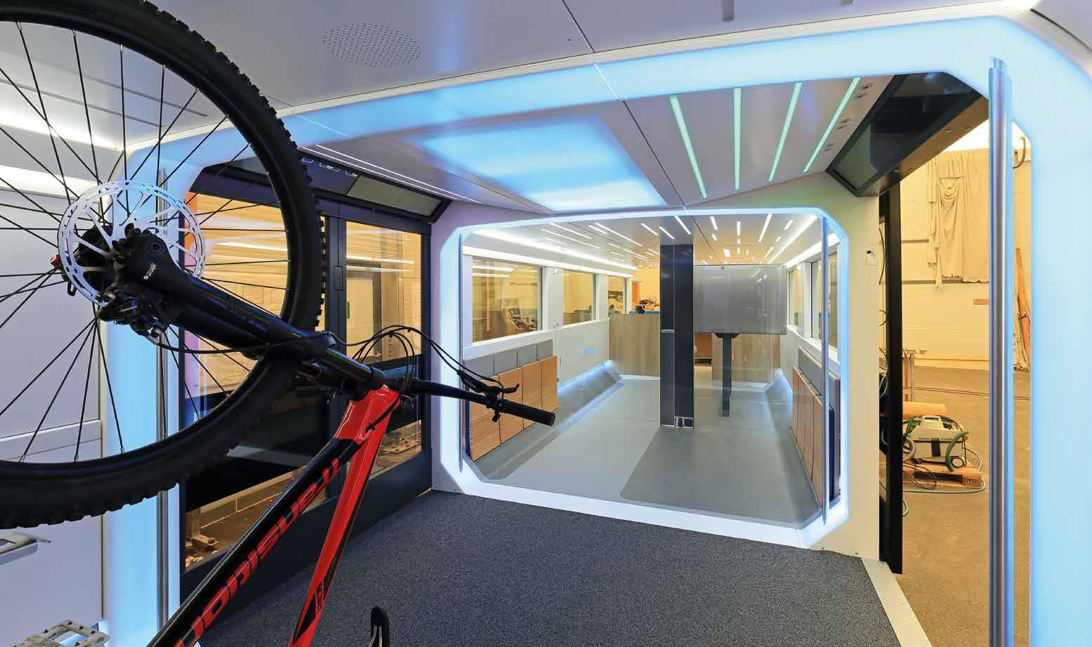 Innovationen: Ein Fahrradabteil im DB Regio Ideenzug
