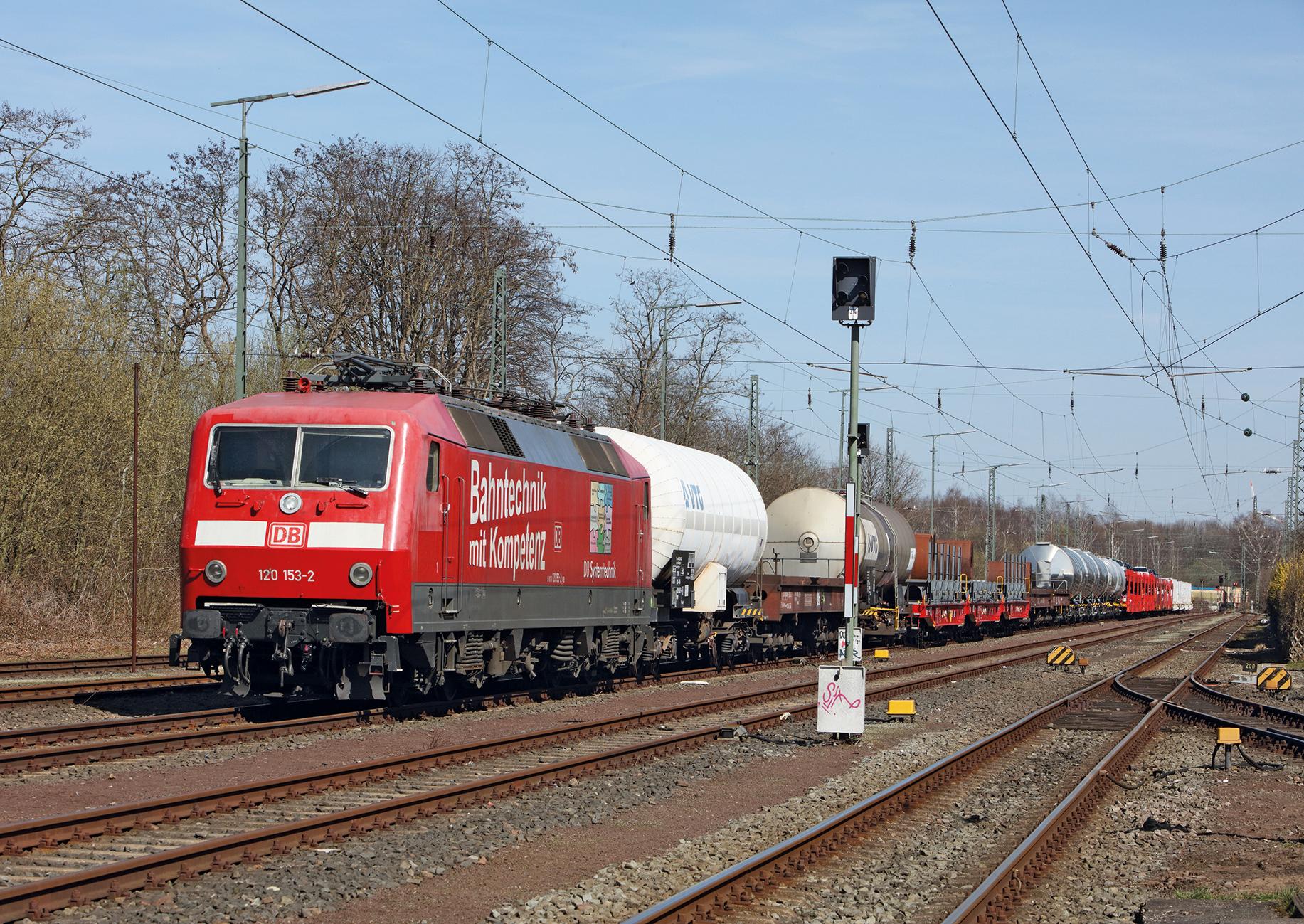Fahrender Güterzug