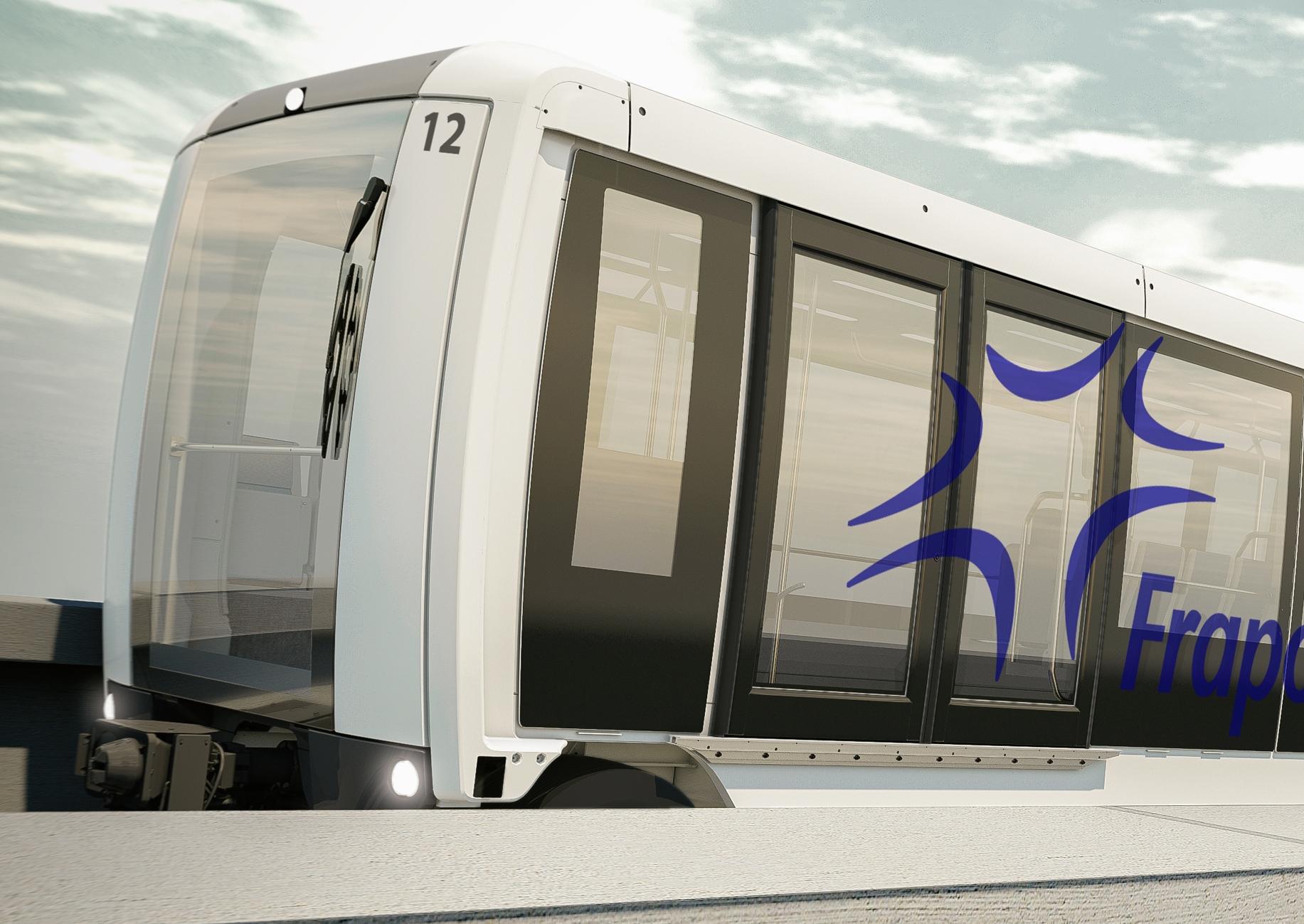 fahrerlose Bahn für den Personentransport am Frankfurter Flughafen Fraport