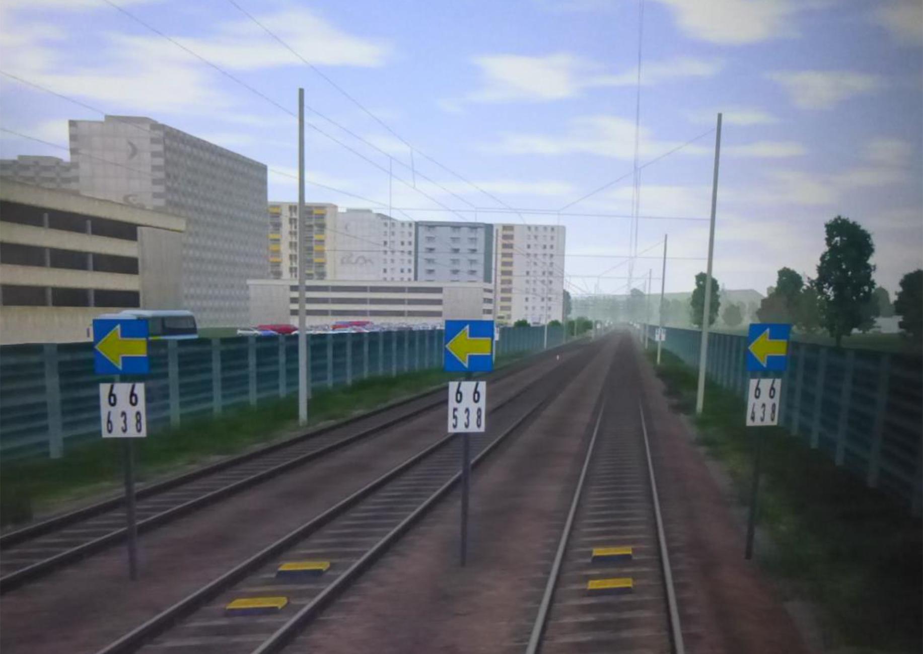 Simulation einer zweigleisigen Strecke mit Signalen