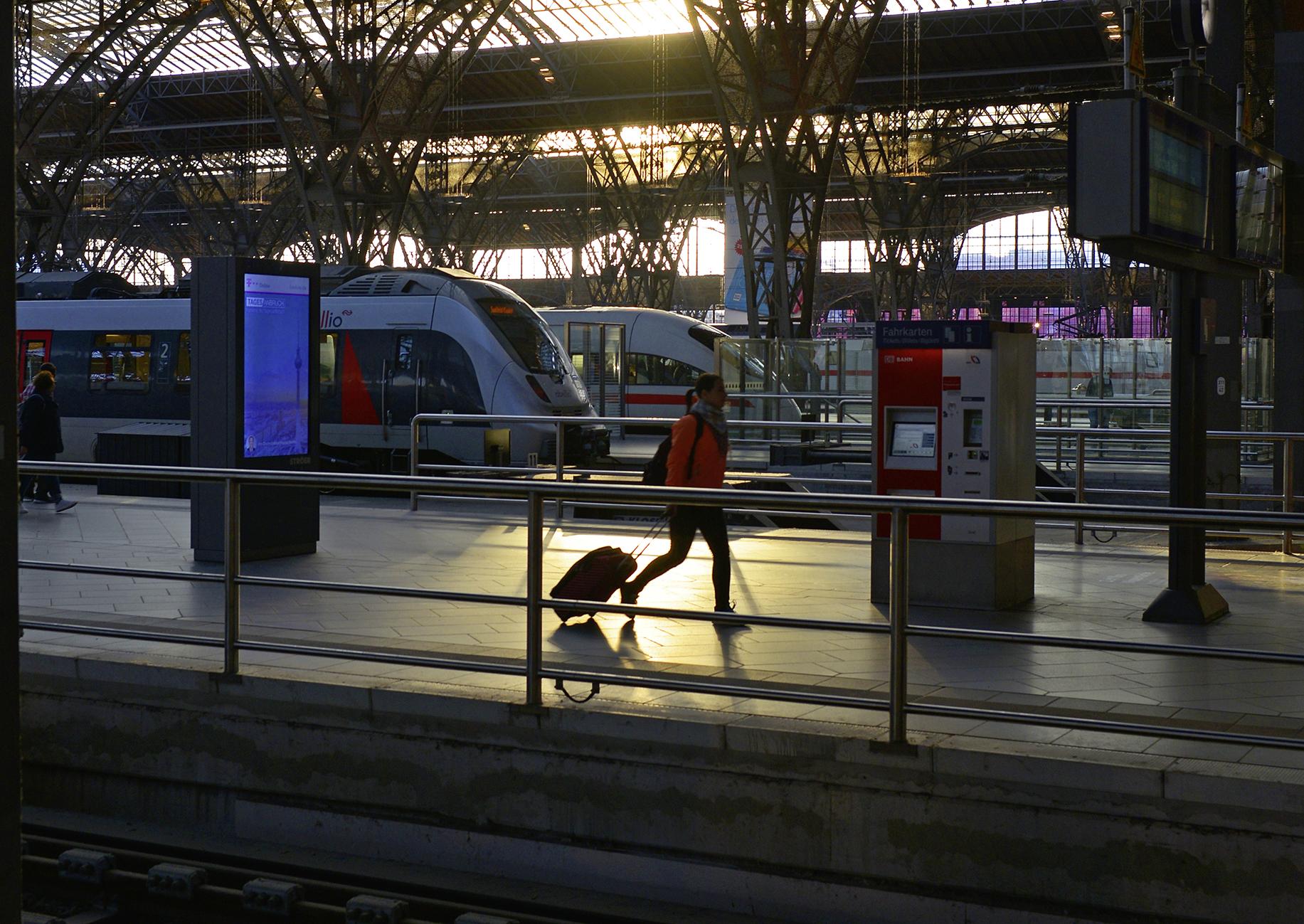 Morgen-Impression aus Leipzig Hbf der im September 2018.