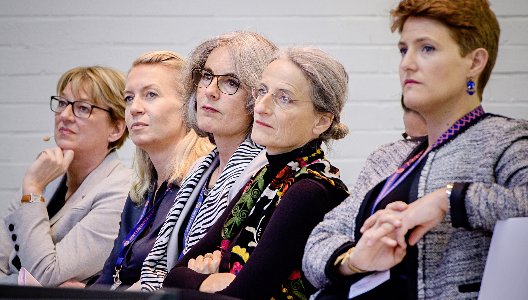 Führungsfrauen der Bahnbranche: Magali Euverte (Keolis), Traude Kogoj (ÖBB), Susanne Henckel (VBB), Michaela Kay (Bombardier), Moderatorin Schulte-Loh