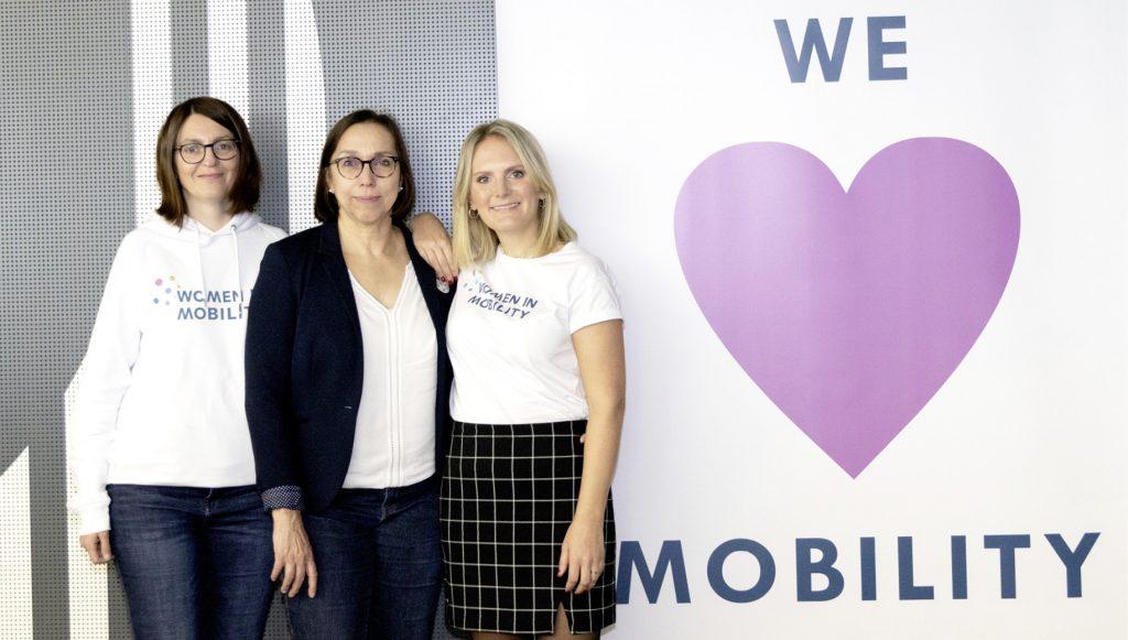 Anke Erpenbeck, Coco Heger-Mehnert und Sophia von Berg auf dem Women in Mobility Kongress 2019