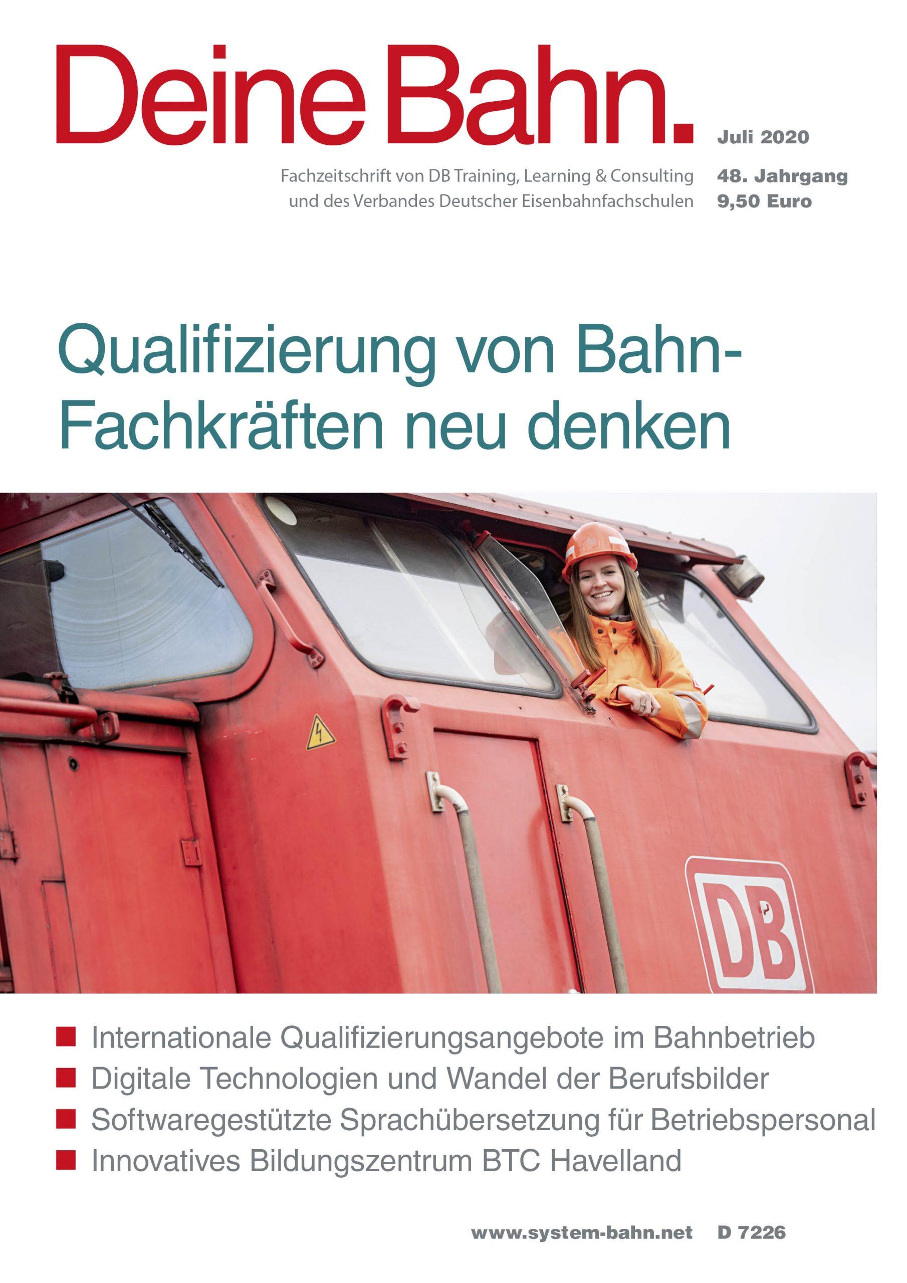 Umschlagmotiv Fachzeitschrift Deine Bahn Juli 2020