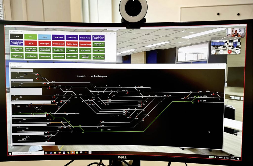 ESTW-Simulation am Bildschirm