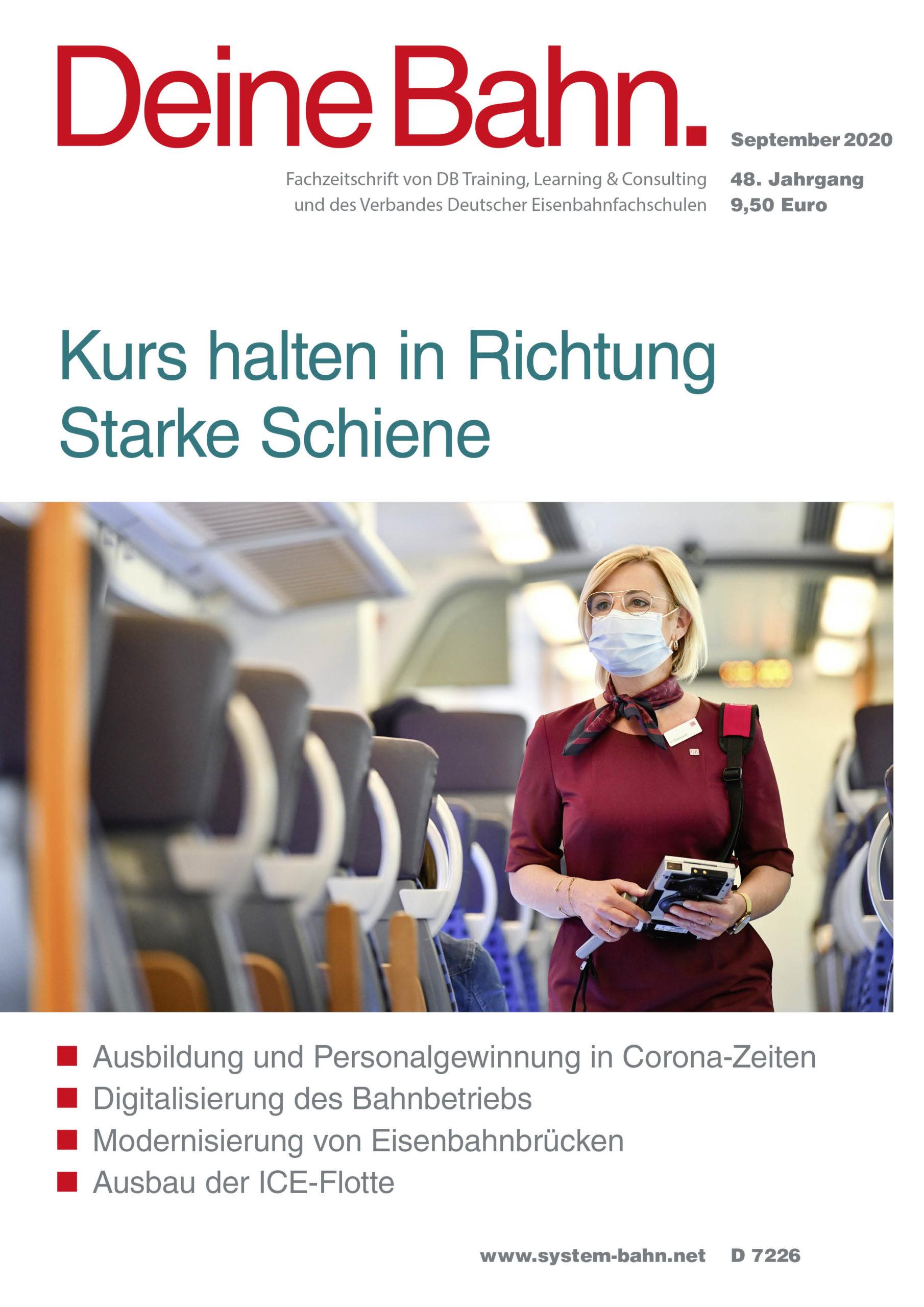 Umschlagmotiv Fachzeitschrift Deine Bahn September 2020
