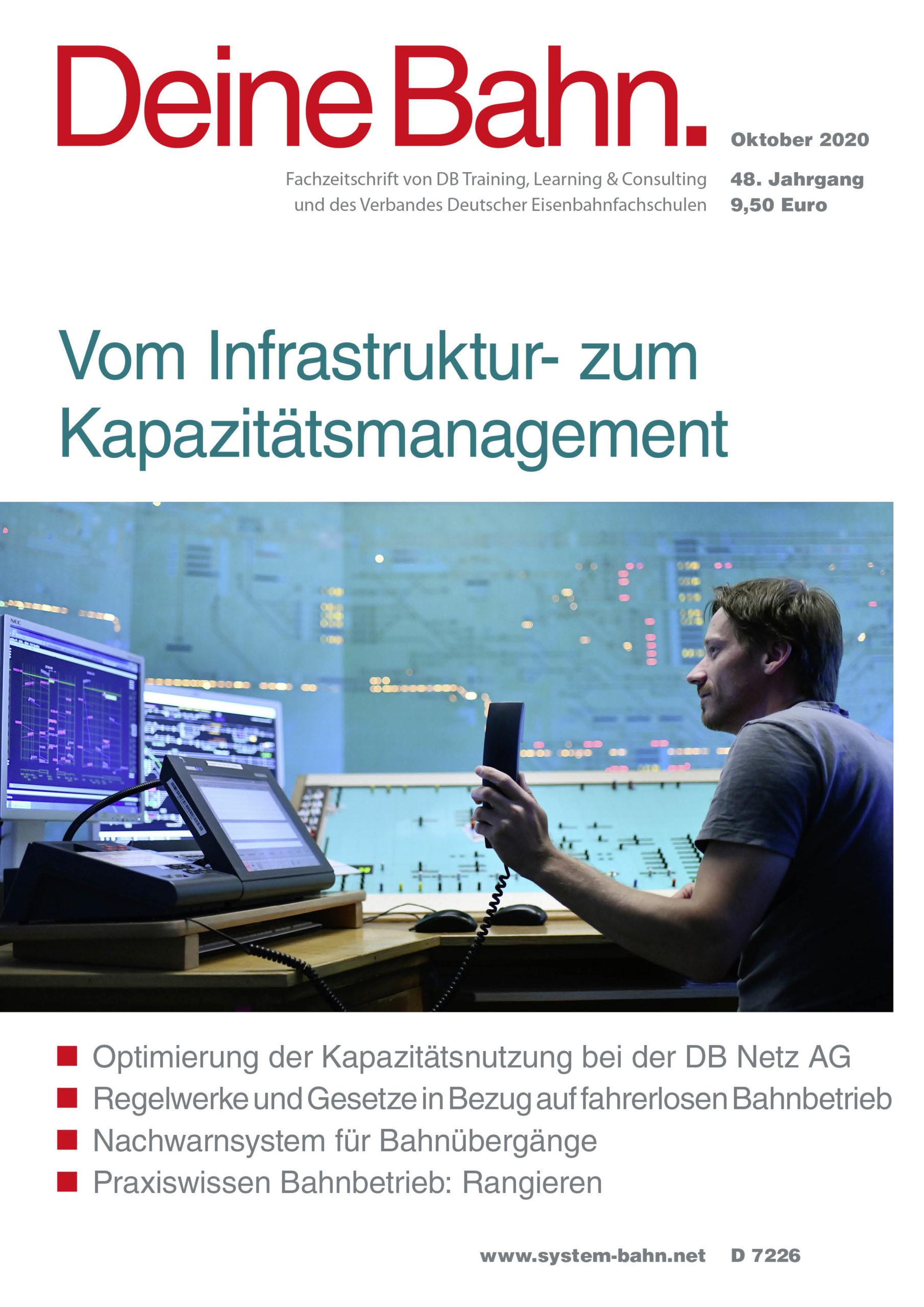 Umschlagmotiv Fachzeitschrift Deine Bahn Oktober 2020