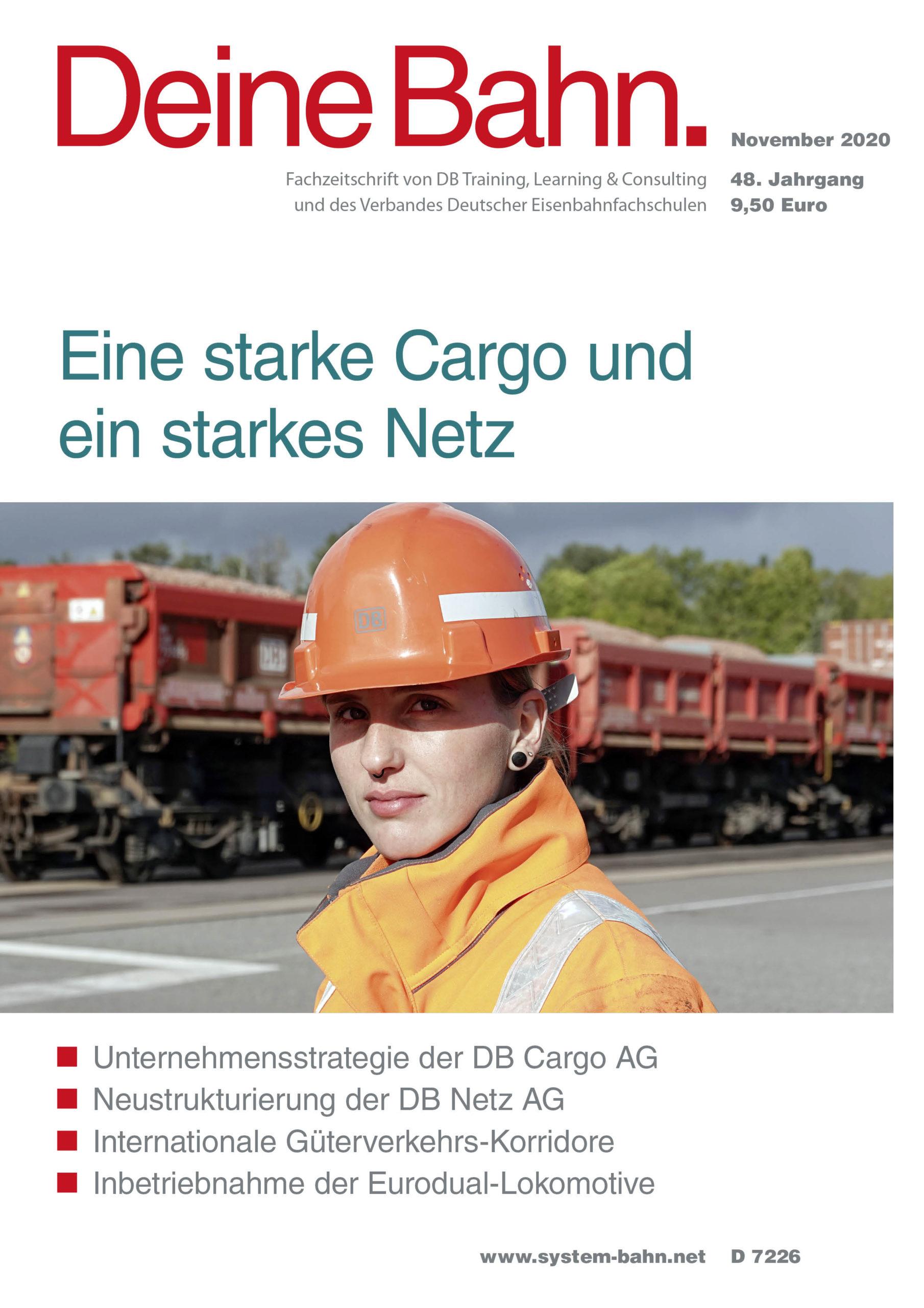 Umschlagmotiv Fachzeitschrift Deine Bahn November 2020