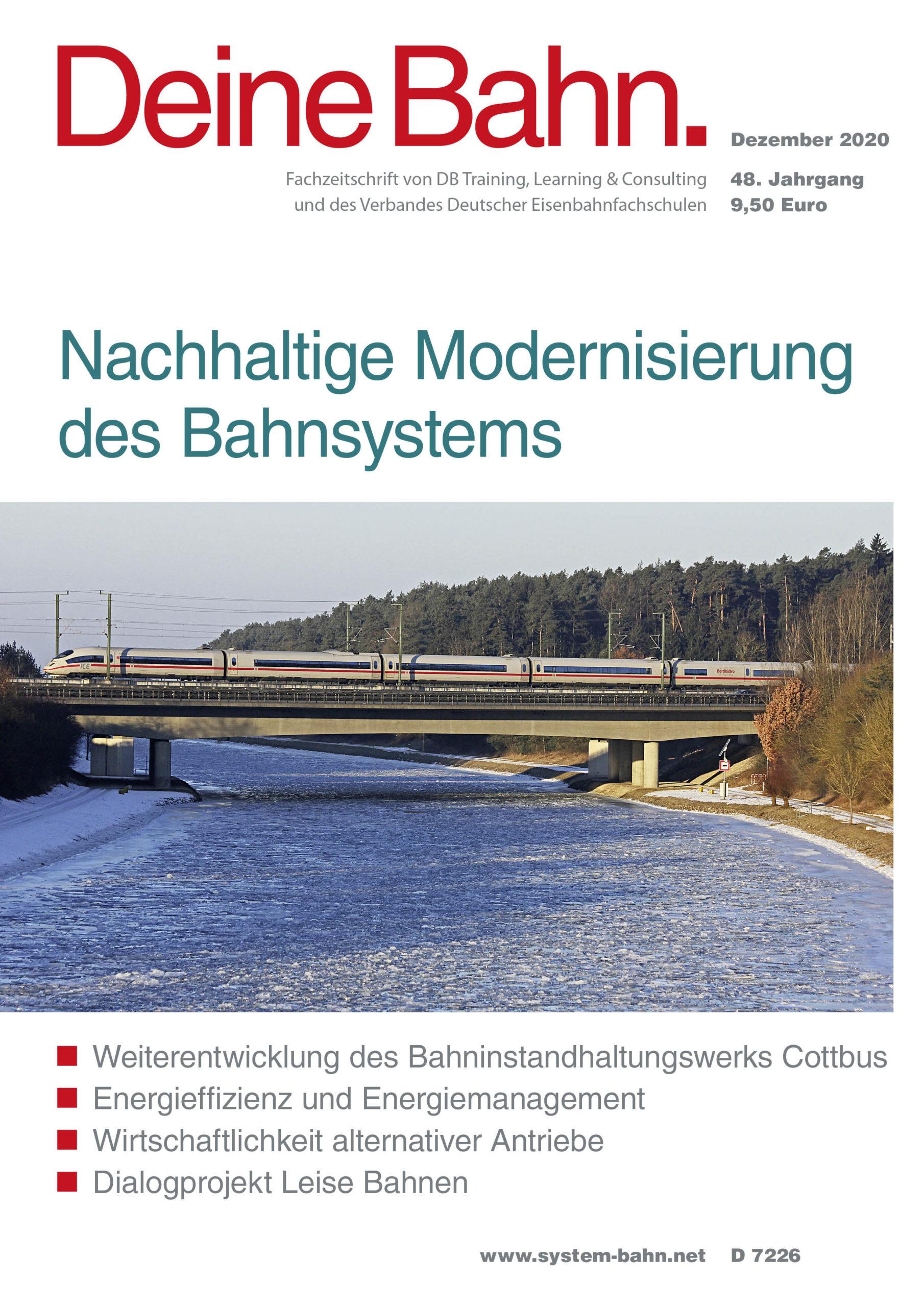 Umschlagmotiv Fachzeitschrift Deine Bahn Dezember 2020