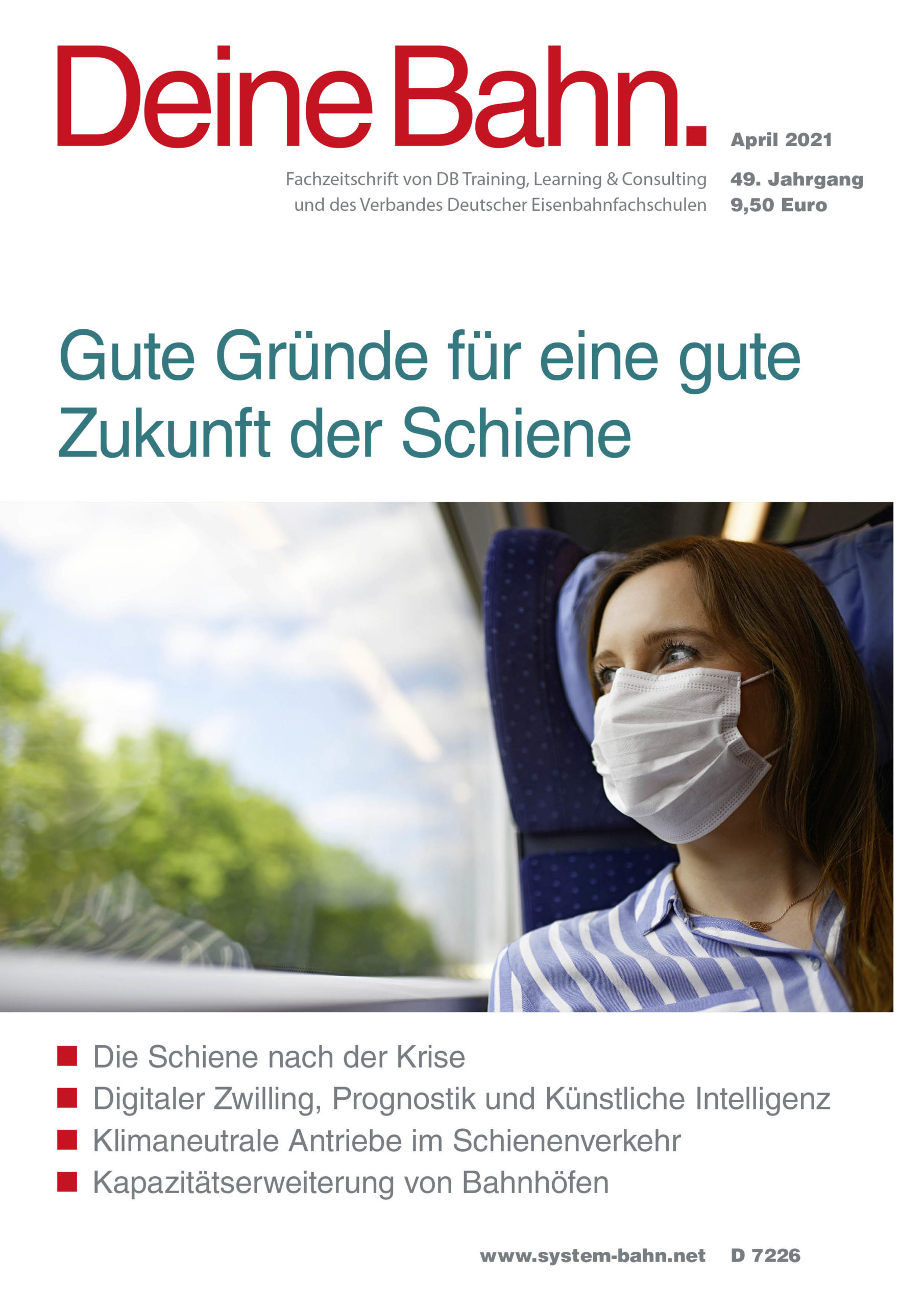 Umschlagmotiv Fachzeitschrift Deine Bahn April 2021