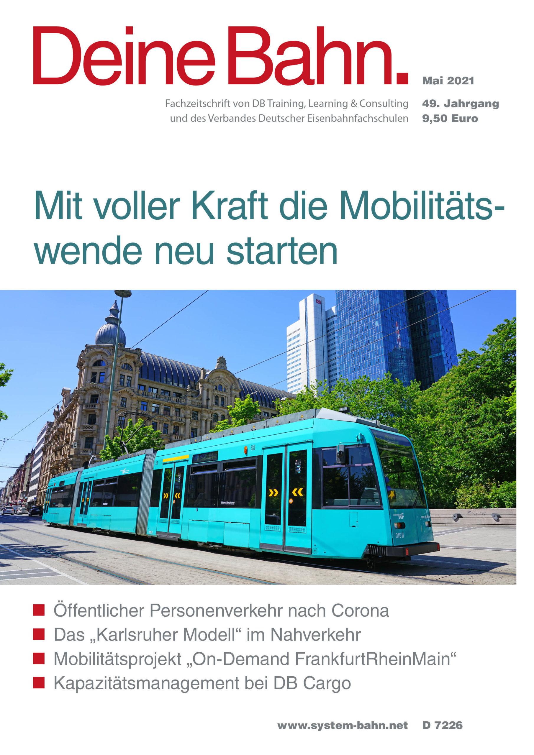 Umschlagmotiv Fachzeitschrift Deine Bahn Mai 2021