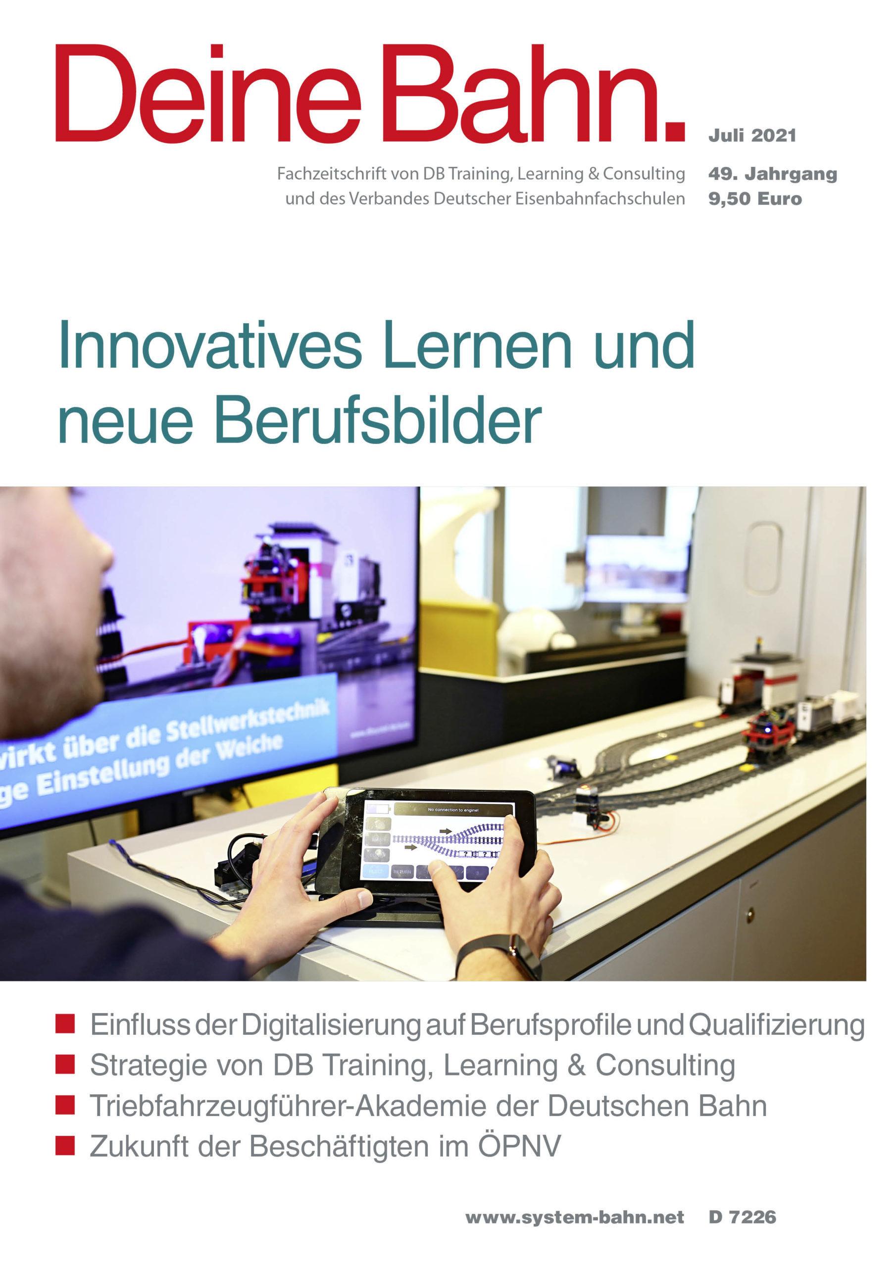 Umschlagmotiv Fachzeitschrift Deine Bahn Juli 2021