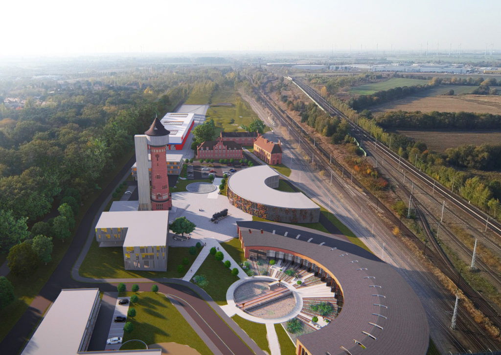 Luftbild der KozeptIdee für den neuen Campus