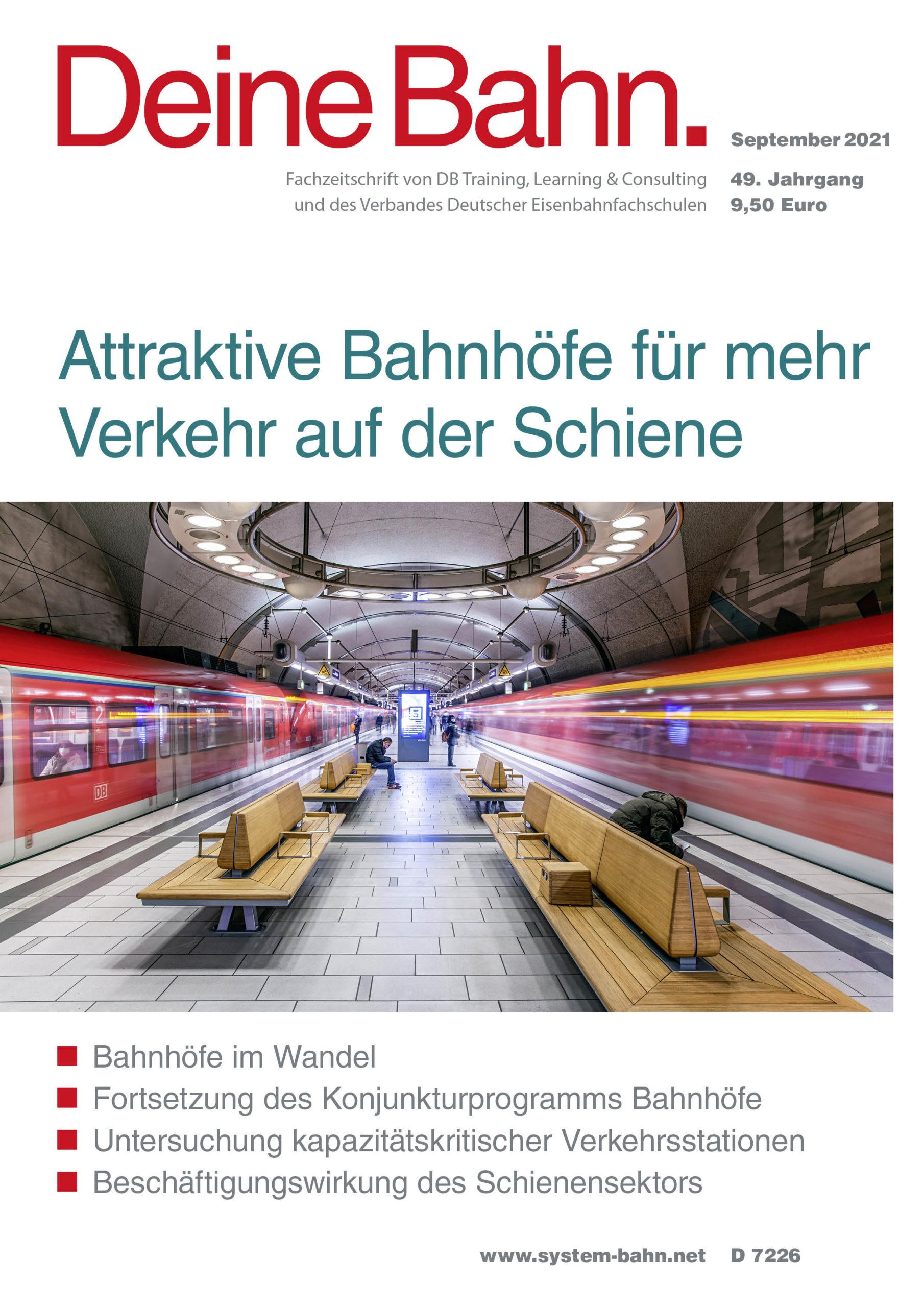 Umschlagmotiv Fachzeitschrift Deine Bahn September 2021