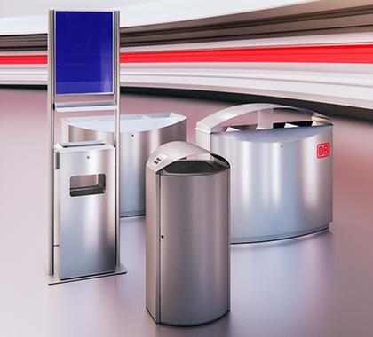 Verschiedene Abfallbehälter von der Firma Auweko